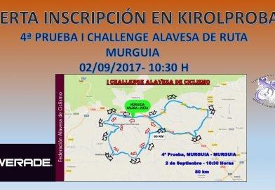 4ª prueba I CHALLENGE ALAVESA DE RUTA