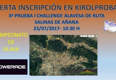 3ª PRUEBA -I CHALLENGE ALAVESA DE RUTA- SALINAS DE AÑANA