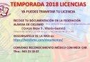 LICENCIAS 2018
