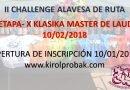 1ª etapa II CHALLENGE ALAVESA DE RUTA